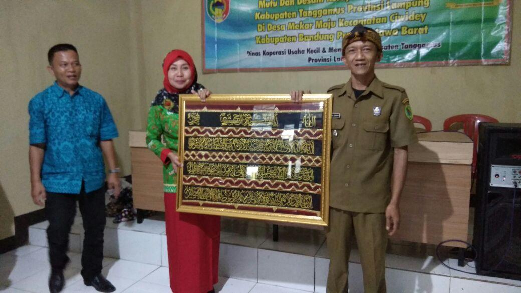 Kunjungan Kabid Disperin Kabupaten Tanggamus Prov Lampung